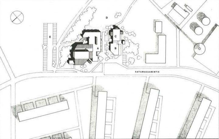 Site plan, Vuosaari Church