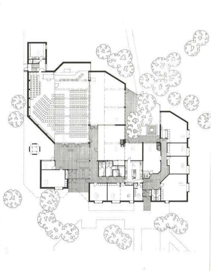 Floor plan, Vuosaari Church