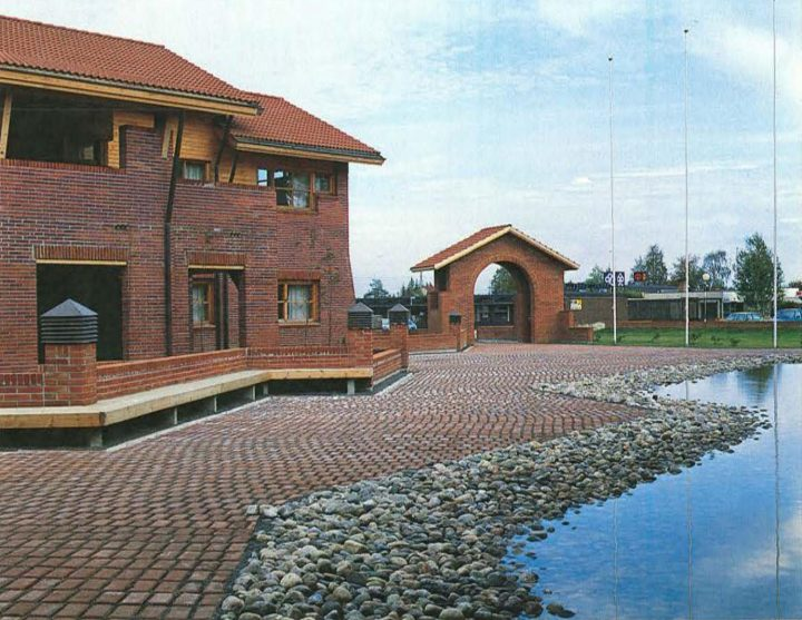 View from the yard, Oulunsalo Municipal Offices