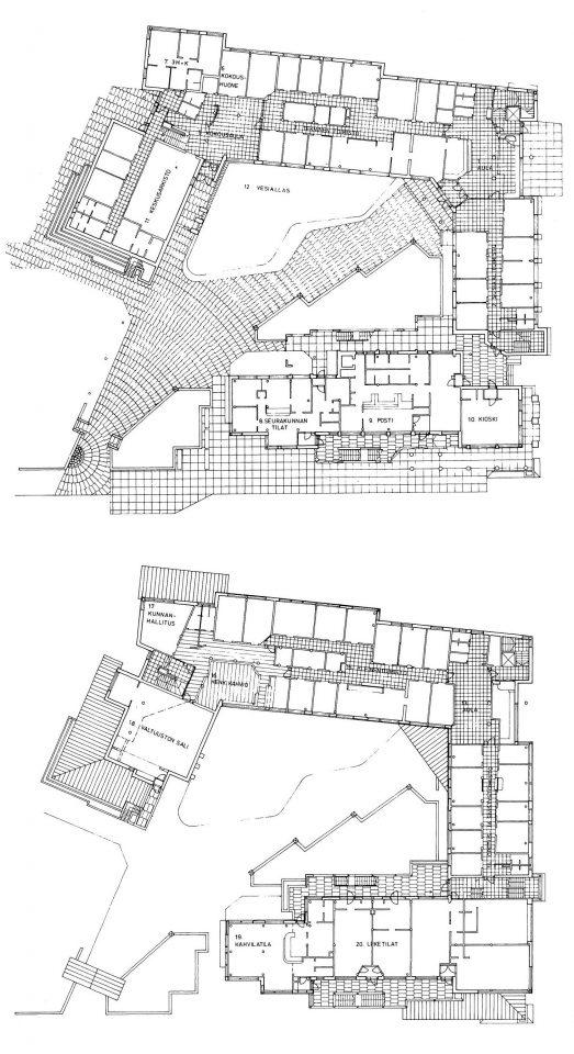 Floor plans , Oulunsalo Municipal Offices
