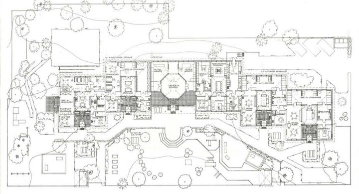 Site plan and floor plan, Ravuri Daycare Centre