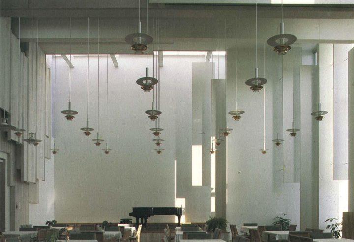 Interior of the main parish hall, Kirkkonummi Parish Centre