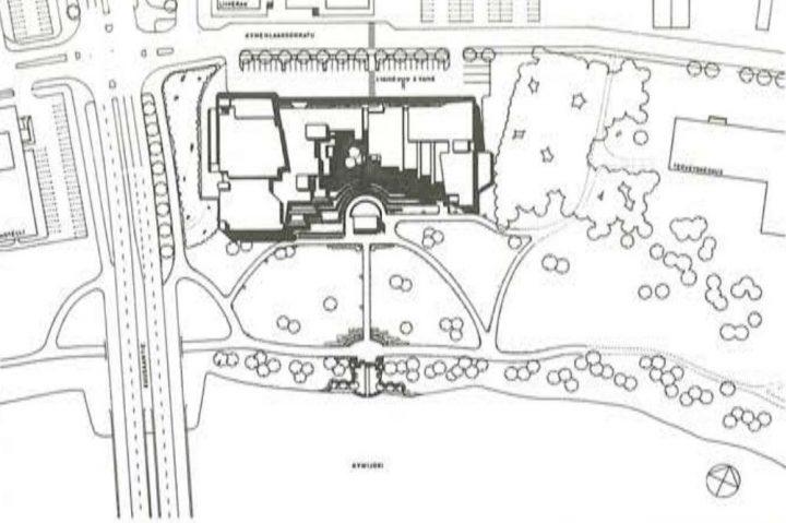 Site plan, Kuusankoski Hall