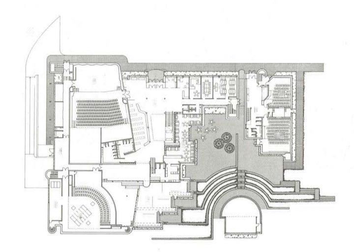 Ground floor's floor plan, Kuusankoski Hall