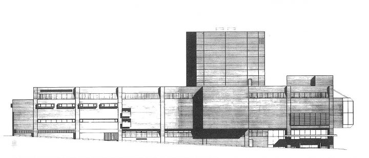 Elevation to Saunakatu, Tampere Worker's Theatre