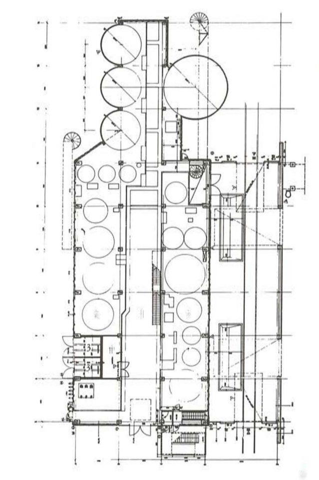 Floor plan, Varkaus Paper Mill Additives Processing Unit