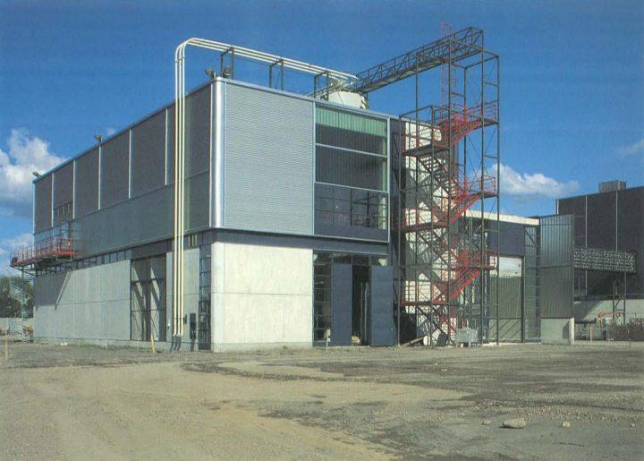 End elevation, Varkaus Paper Mill Additives Processing Unit