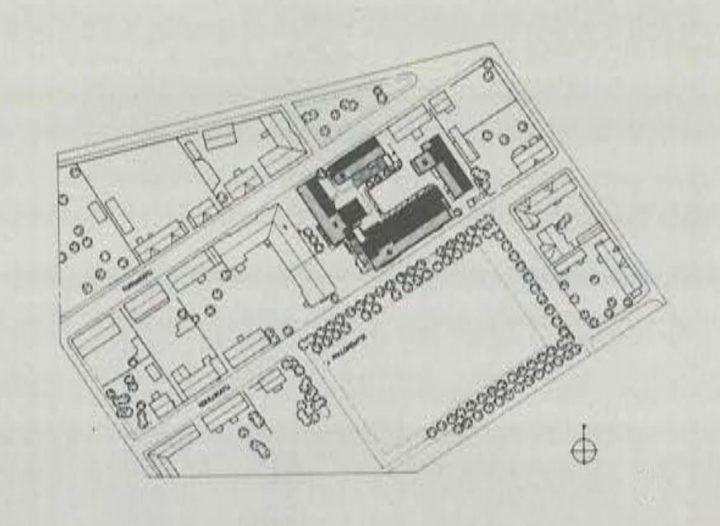Site plan, Hangö Gymnasium and Hangö Högstadium