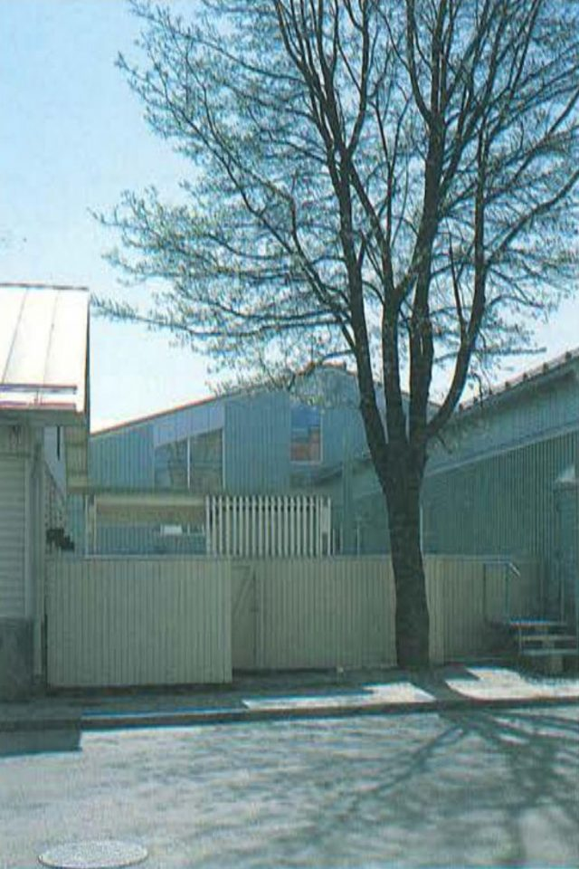 Kitchen entrance on Tarhakatu, Hangö Gymnasium and Hangö Högstadium