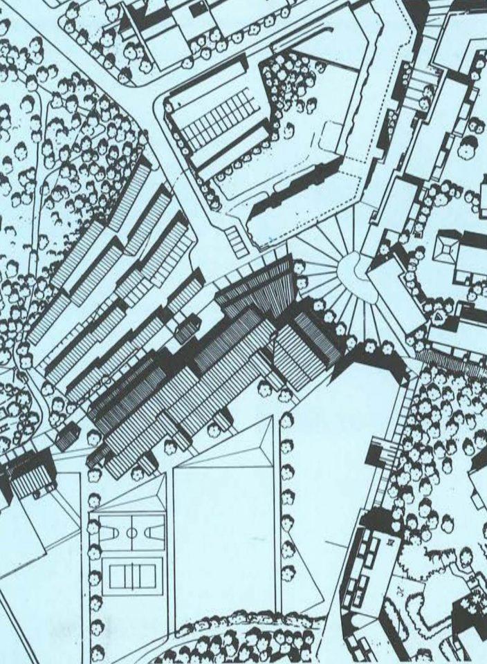 Site plan, Puustelli School and Multipurpose Centre