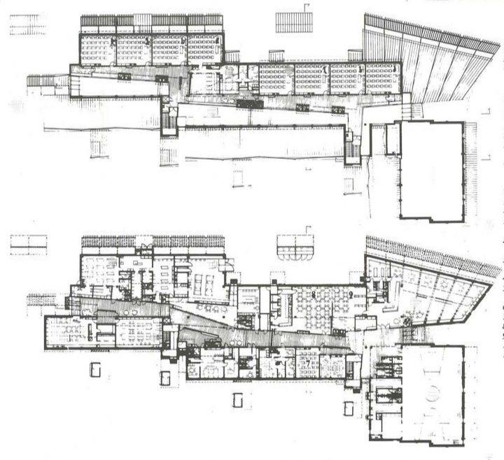 Floor plans, Puustelli School and Multipurpose Centre