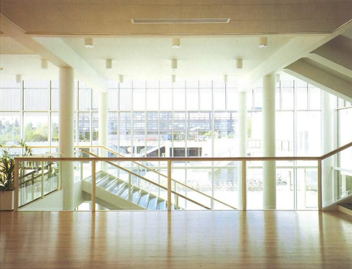 View from the upper lobby, Imatra Cultural Centre