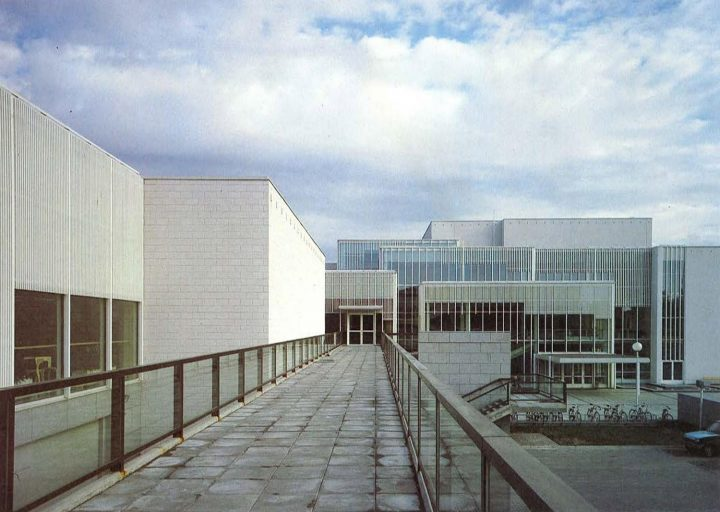 Part of the elevation to the town hall, Imatra Cultural Centre