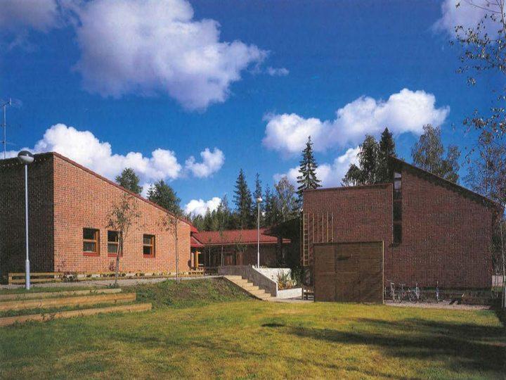 School building bounding the children's home yard, Children's Home
