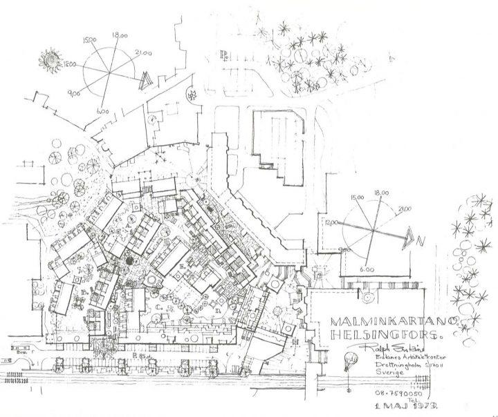 Site plan, Malminkartano Housing Complex
