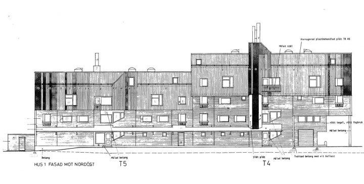 Northeast elevation, Malminkartano Housing Complex