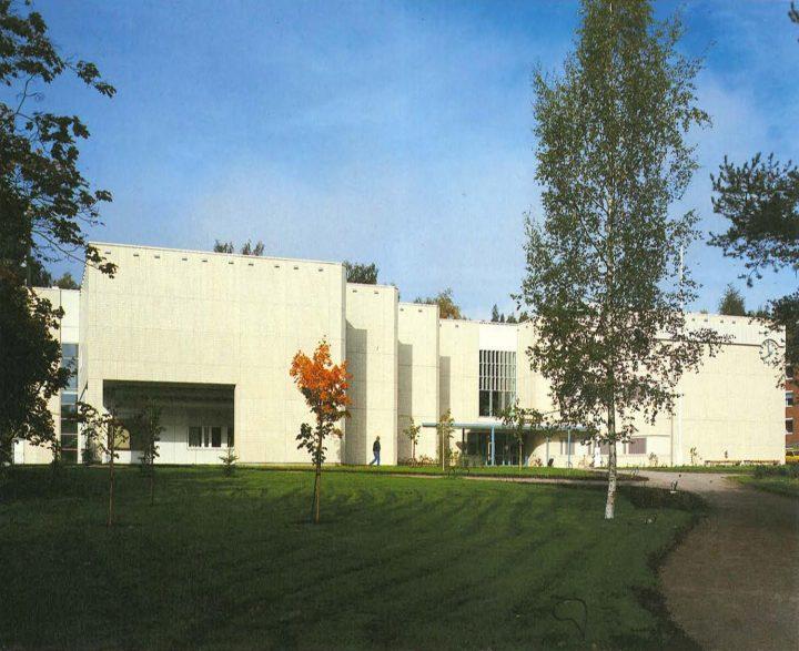 Southeast entrance elevation, Riihimäki City Library