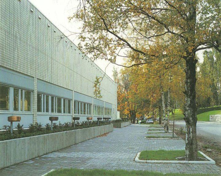Northwest elevation, Riihimäki City Library