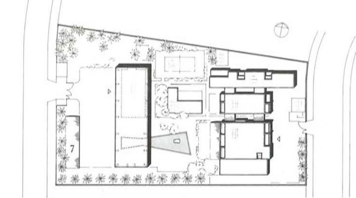 Site plan, Saudi Arabia Embassy of Finland