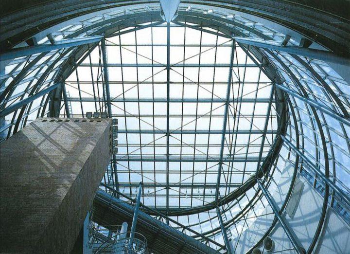 Glass roof of the main lobby, Innopoli 1
