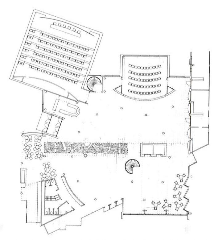 Main lobby and auditoriums, Innopoli 1
