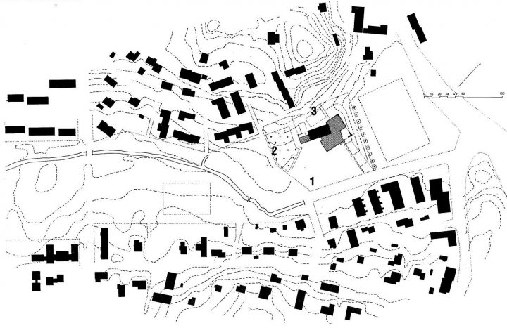 Site plan, Hämeenkylä Church