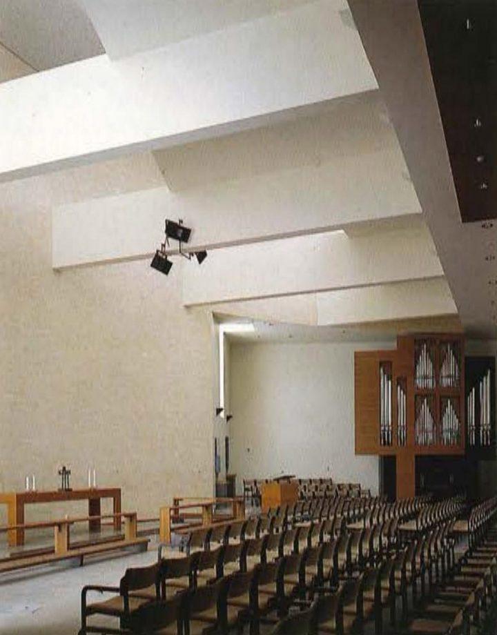 Church hall towards the organ, Pirkkala Church