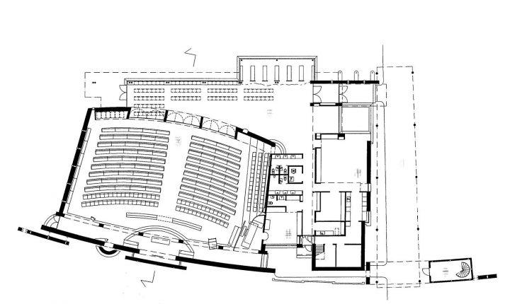 Floor plan, Kempele Holy Trinity Church