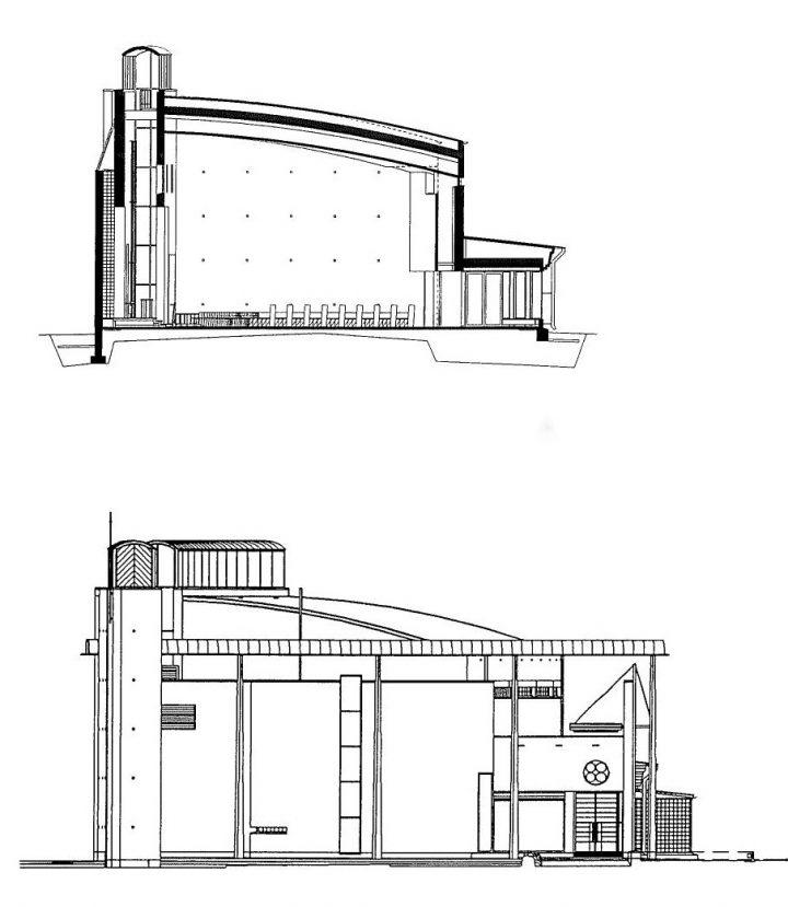 Section plans, Kempele Holy Trinity Church