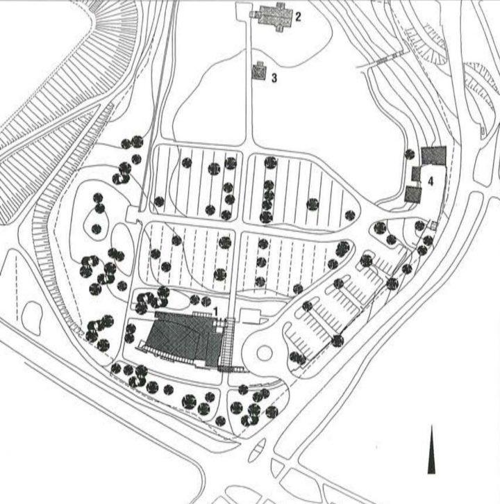 Site plan, Kempele Holy Trinity Church