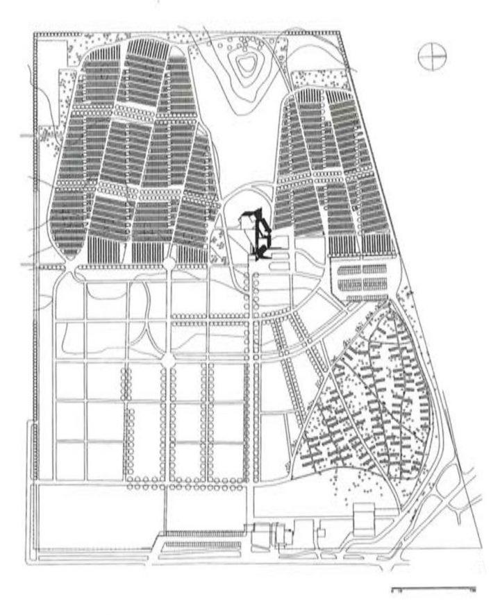 Site plan, Lamminpää Funerary Chapel