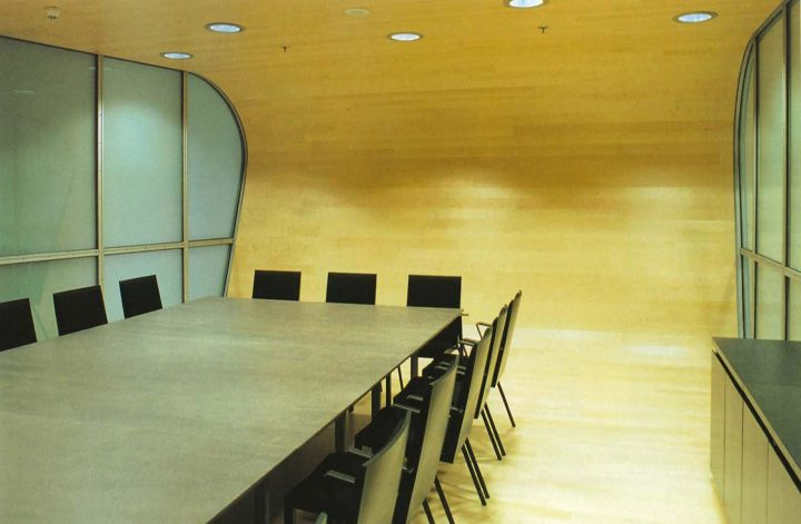 Wooden conference room, Berlin Embassy of Finland