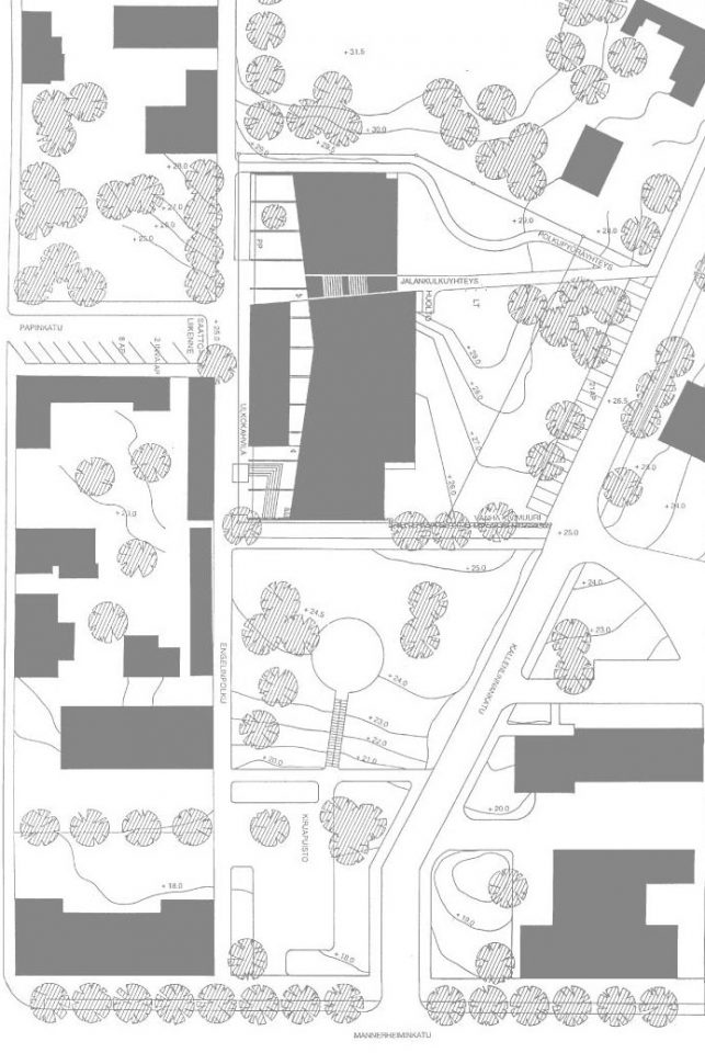Site plan, Porvoo City Library