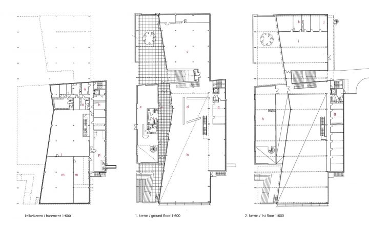 Floor plans, Porvoo City Library