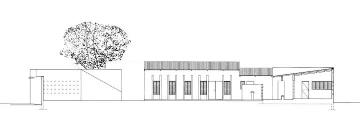 Section drawing, Women's Centre
