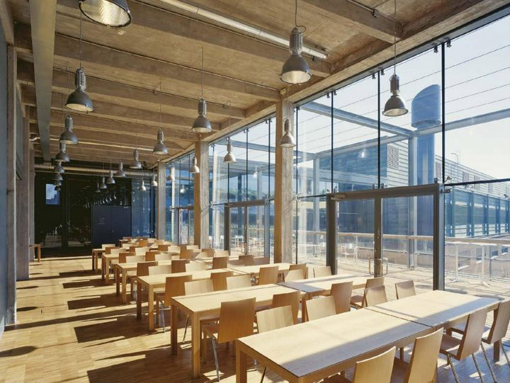 The staff restaurant on the top floor, STAKES and Senaatti Properties