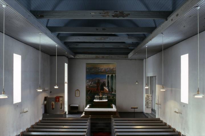 Church interior in 1978, Muurame Church
