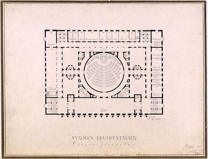 1st floor plan (1925), Parliament House