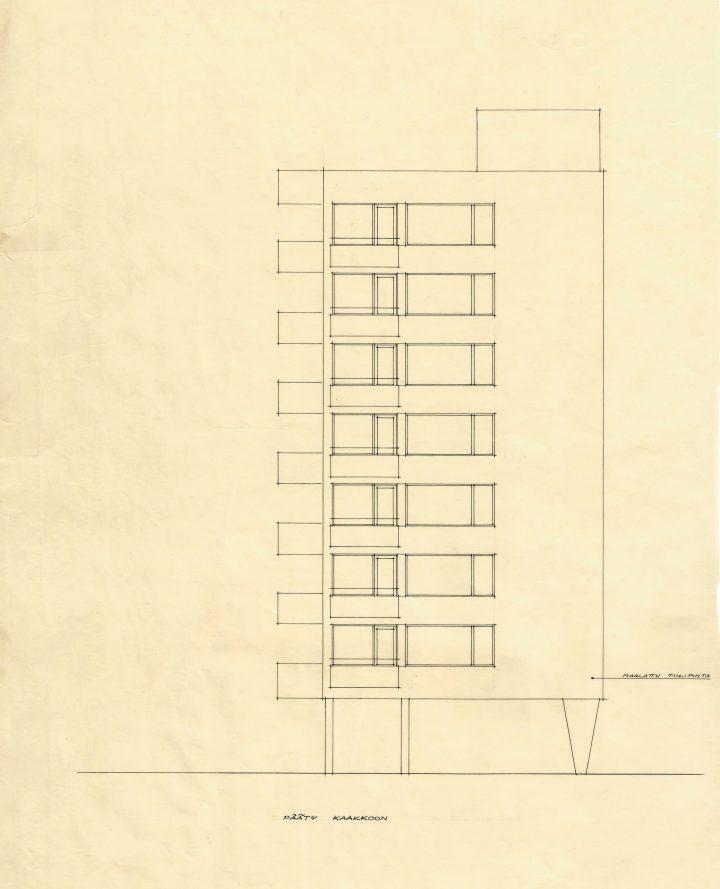 Original drawing , Carenia & Linnankatu 8 Housing