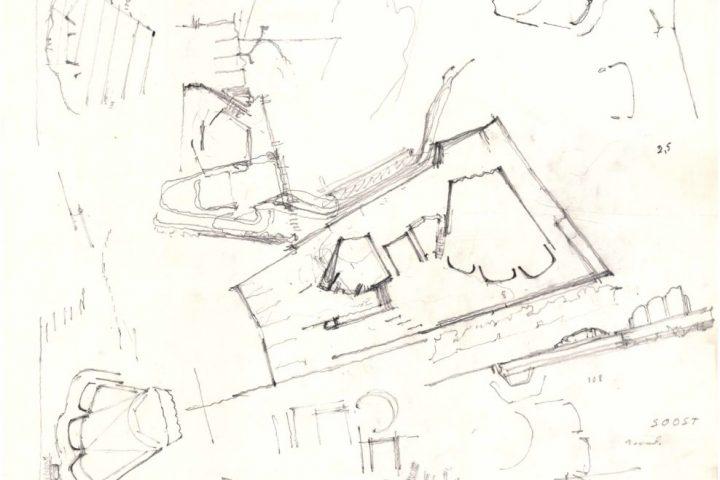 Sketch drawing, Finlandia Hall