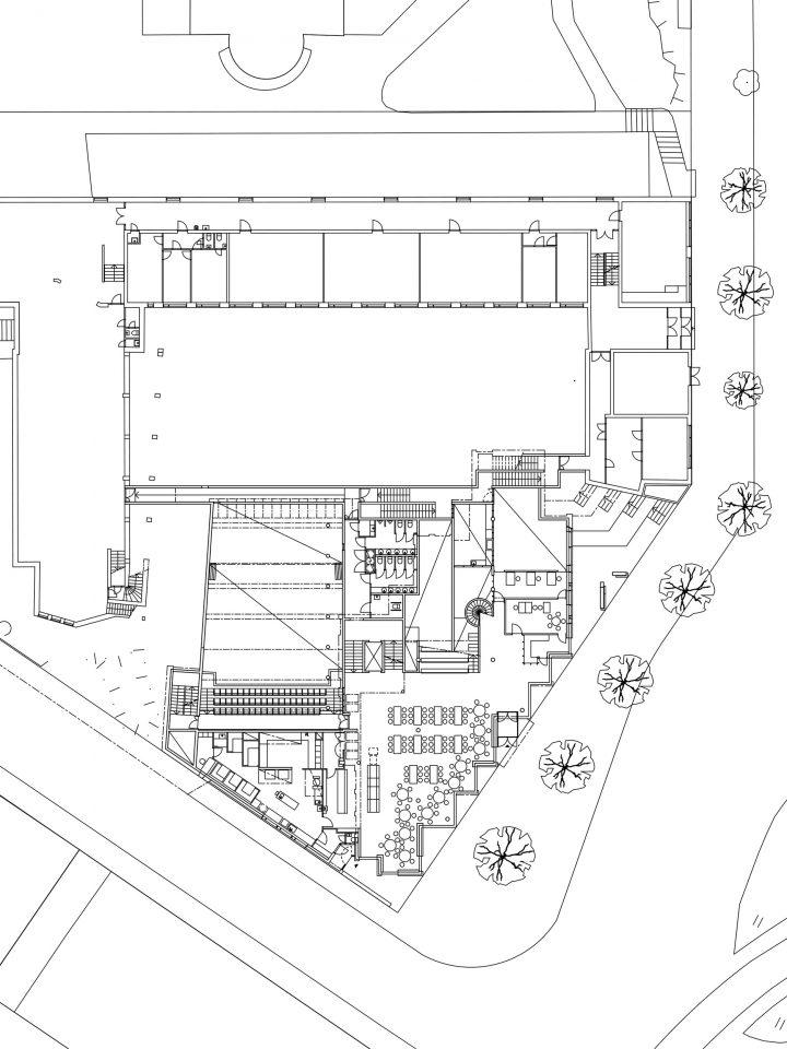 Ground floor, square level, Sandels Cultural Centre