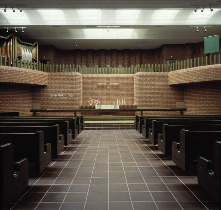 Church interior, Hervanta Central Axis