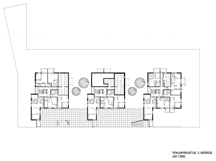 Floor plan, Käpykallio Housing
