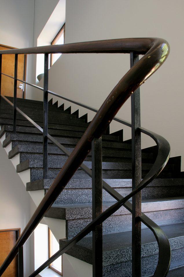 Main staircase handrail, Åbo Akademi Book Tower