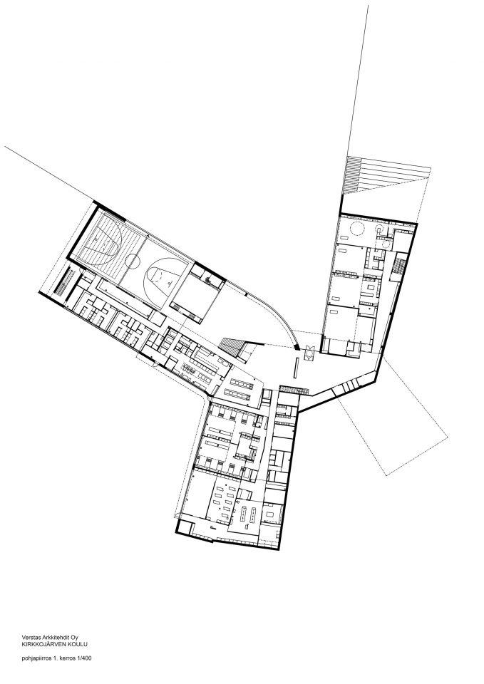 Ground floor, Kirkkojärvi School