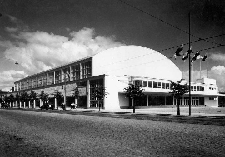 Photo from 1935, Töölö Sports Hall (former Expo Hall)