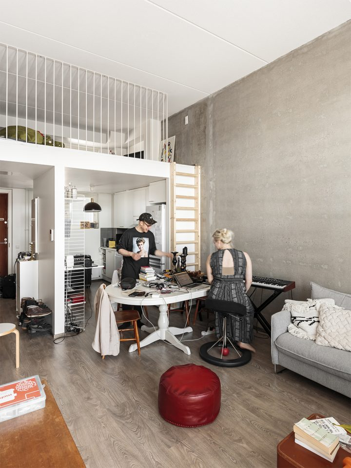 5th floor flat with a mezzanine, Jallukka House for Musicians