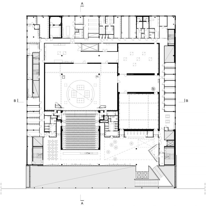 2nd floor, main theatre floor, Lappeenranta City Theatre