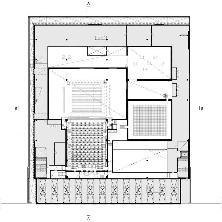 3rd floor, upper theatre floor, Lappeenranta City Theatre