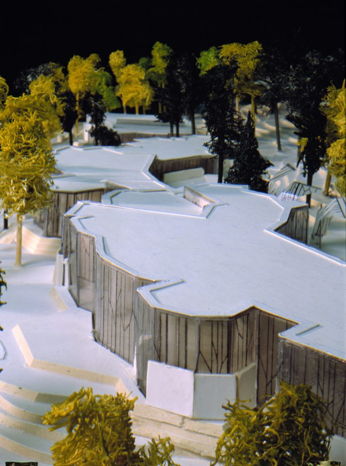 Model of the competition entry, Mäntyniemi Residence of the President of Finland